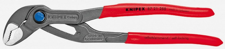 """Щипцы для водяного насоса 250/10"""" K 46 мм COBRA QuickSet ручка, KNIPEX"""