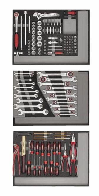 Tööriistakomplekt moodulites 130-osa, Carolus