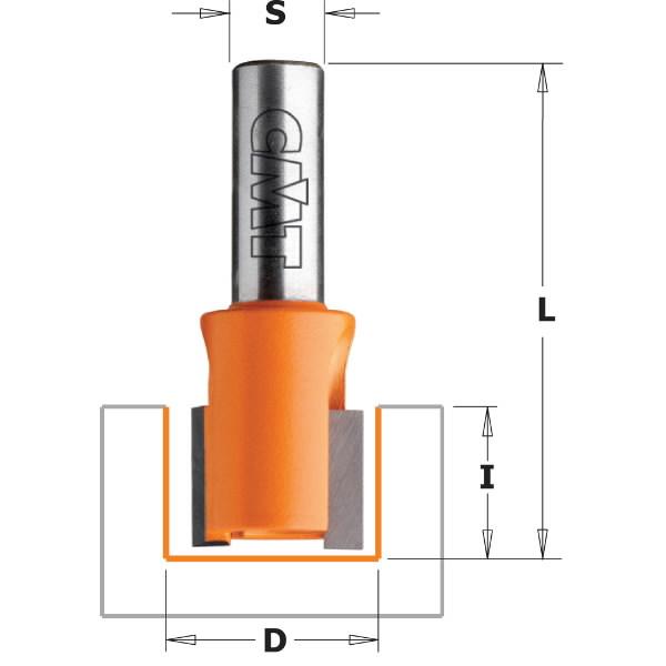 Hing recesser bit S=6mm, D=25mm, CMT