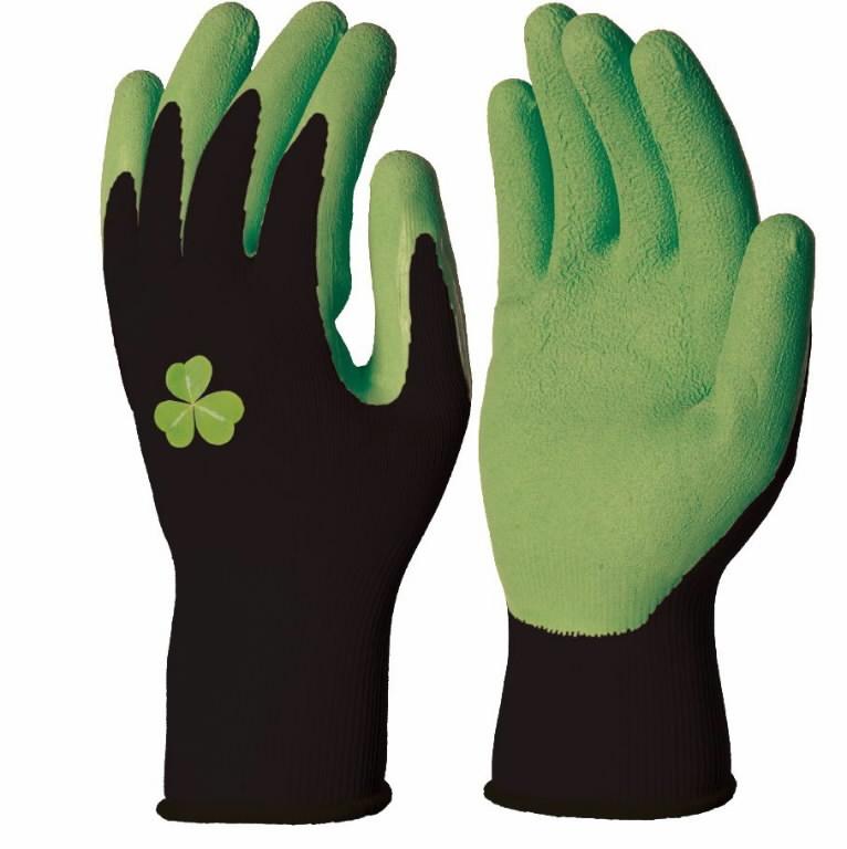 Cimdi, poliestera, dabīgā lateksa pārklājums, zaļi 8, Delta Plus