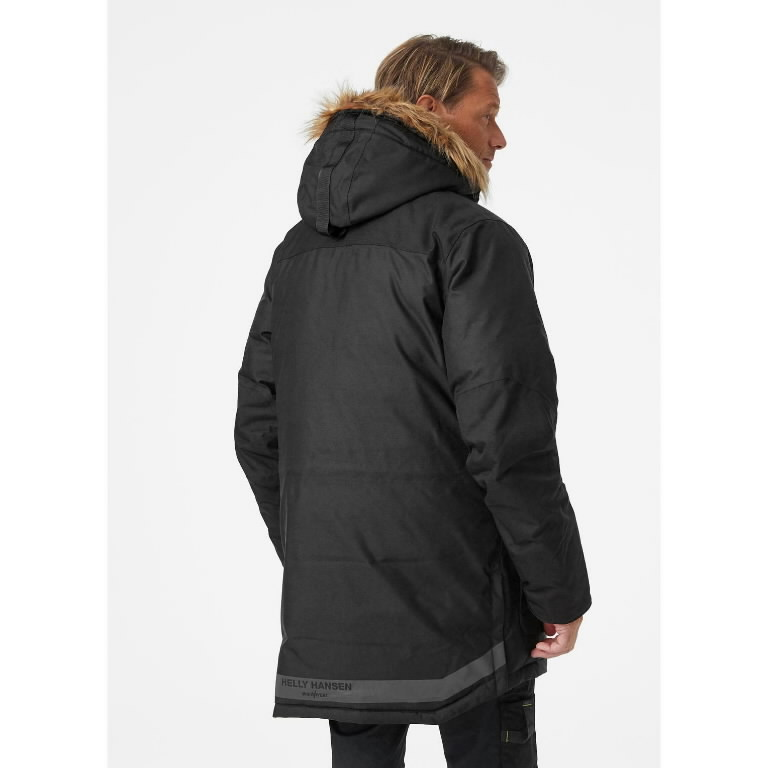 Winter jacket parka Bifrost, hooded, black L, Helly Hansen WorkWear