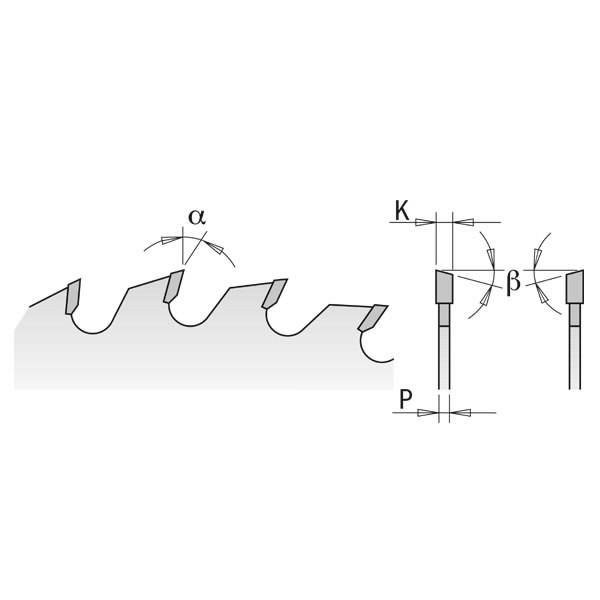 Yleisterä 400x3,5/30mm Z60 a10° ß15°ATB, CMT