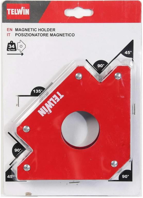 Keevitusmagnet 45°,90°,135°, tõmbejõud 34kg, Telwin
