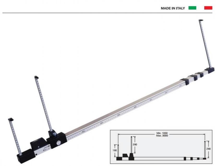 Diagonaalide joonlaud 1050-3000mm, OMCN