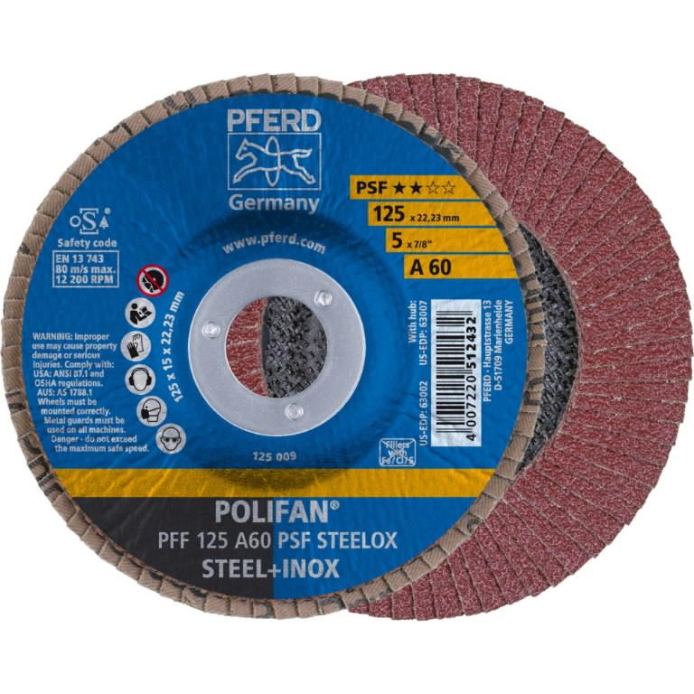 Vėduoklinis diskas 125mm A60 PSF PFF POLIFAN, Pferd