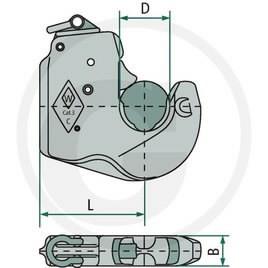 WALTERSCHEID LOWER LINK HOOK Cat 3, Granit