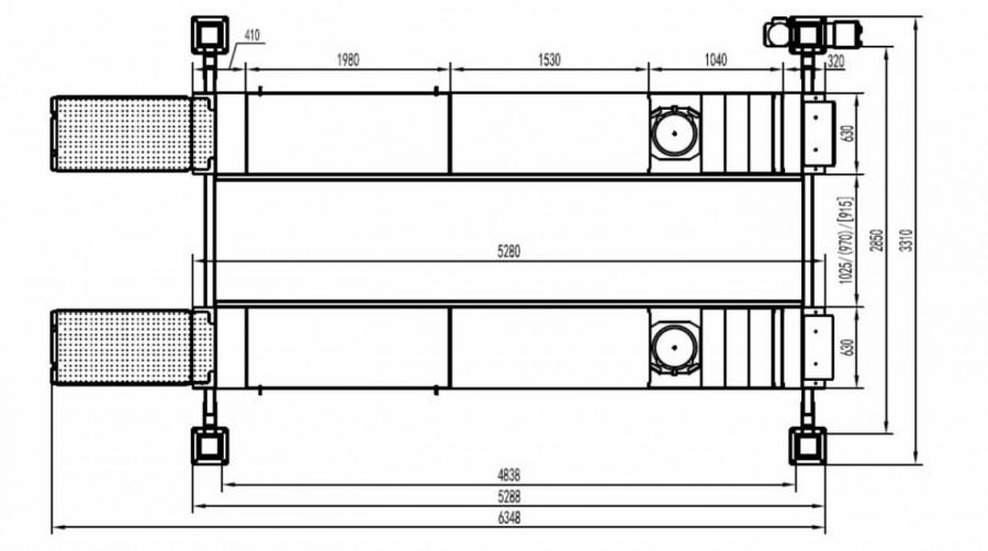 4-post tõstuk JLF4000, 4T