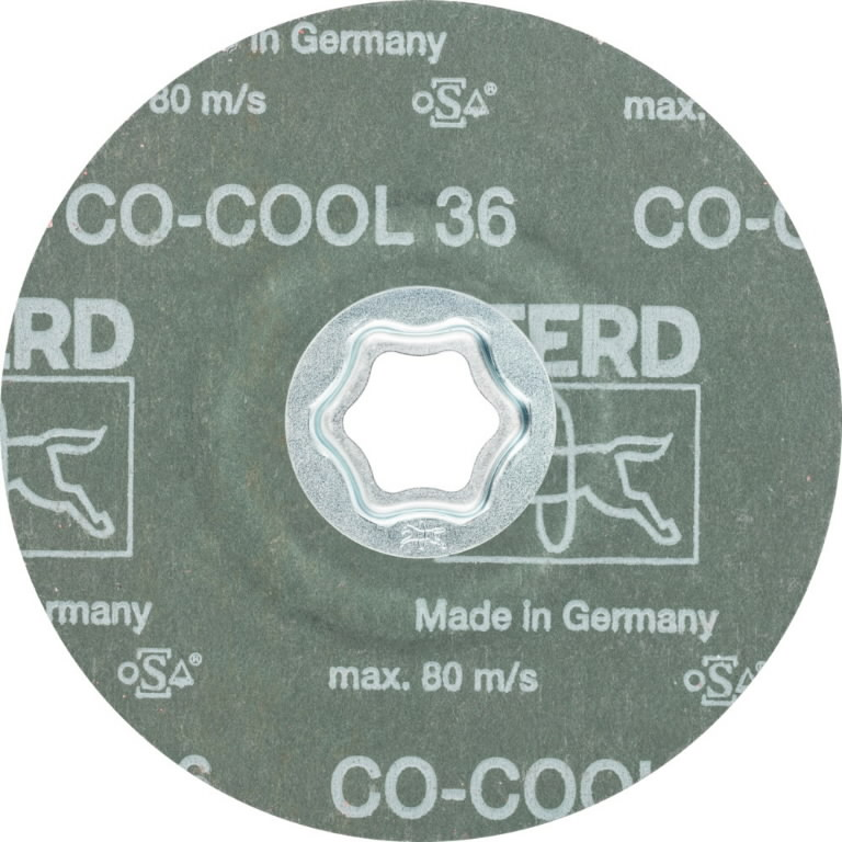 Fiber disc for INOX CC-FS CO-COOL 125mm P36, Pferd