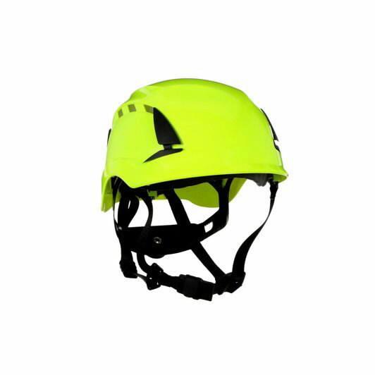 Kaitsekiiver SecureFit, ventileeritud, helkuritega, HV-rohel