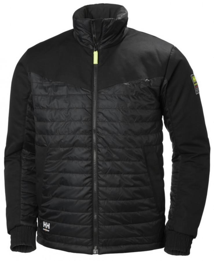 Siltināta jaka Oxford, black L