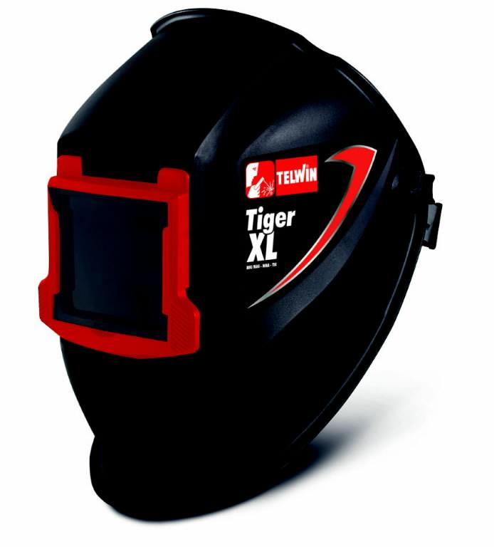 Suvirinimo skydelis TIGER XL 90x110mm, atverčiamu stikliuku, Telwin