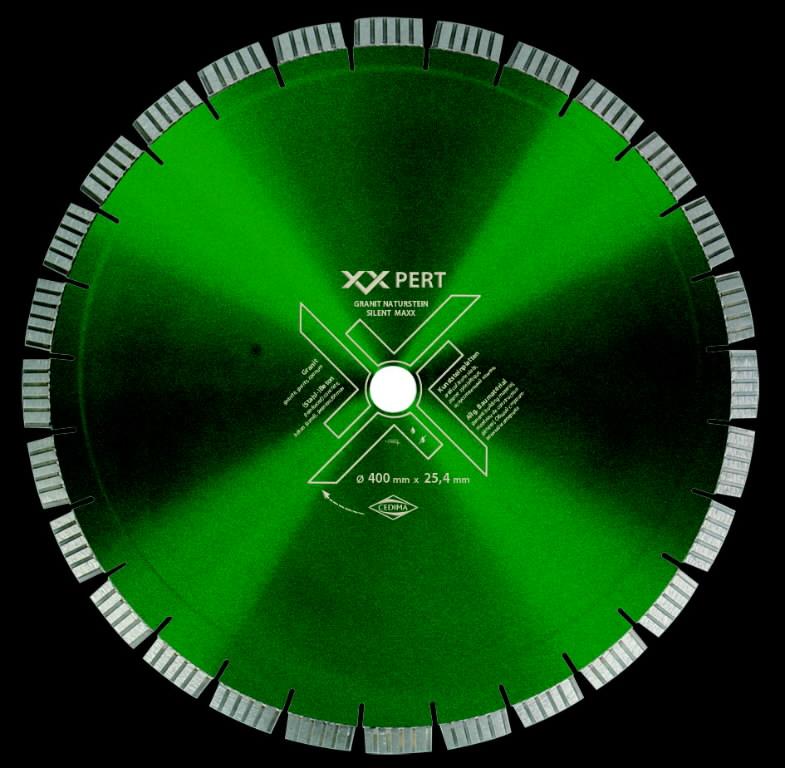Deimantinis diskas 400/25,4mm Granit Naturstein Silent Maxx, Cedima