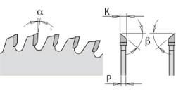 CHROME SAW BLADE HW 250x3,2/2,2x30 Z80 38° ATB -2NEG, CMT