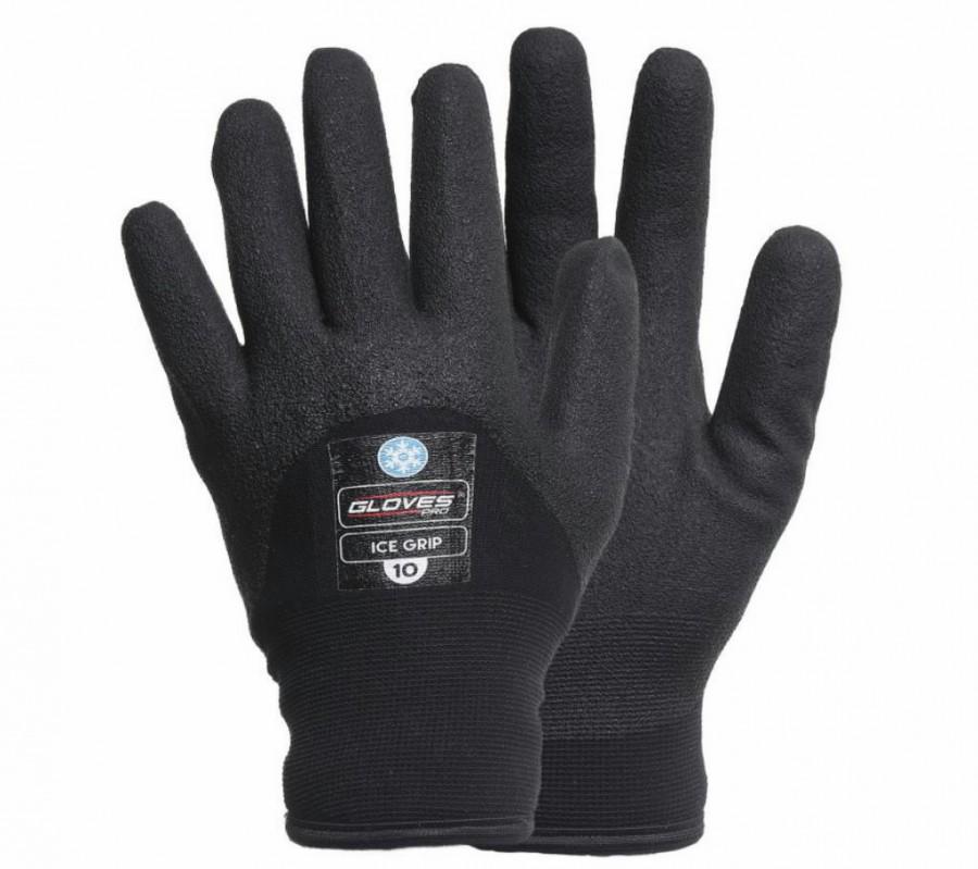 Kindad, 3/4 vahtvinüül, ülipehme vooder, Ice Grip, must 10, Gloves Pro®