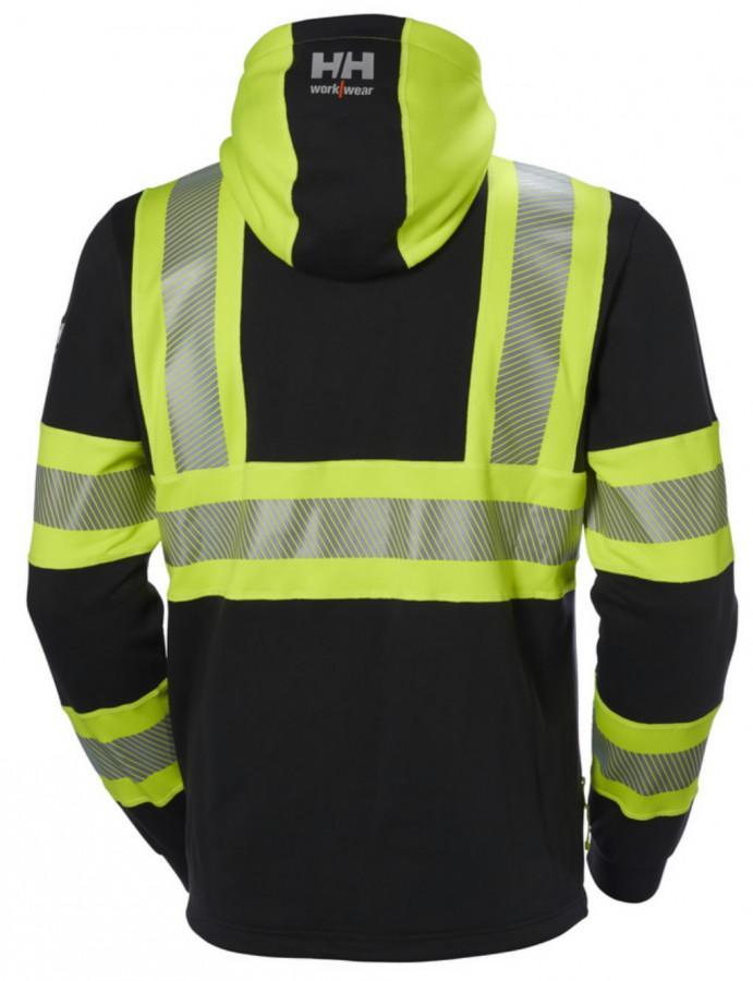 Dressipluus Icu kapuutsiga kõrgnähtav CL1, kollane/must 3XL, Helly Hansen WorkWear