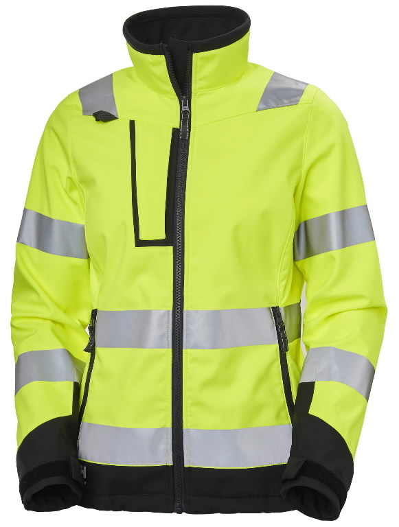 Softshell jakk Luna naiste kõrgnähtav CL2, kollane/must M, Helly Hansen WorkWear