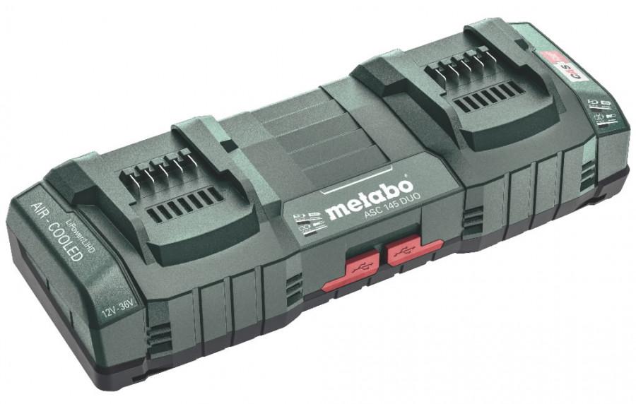 2-kohaline kiirlaadija ASC 145 12-36 V +  2xUSB porti, Metabo
