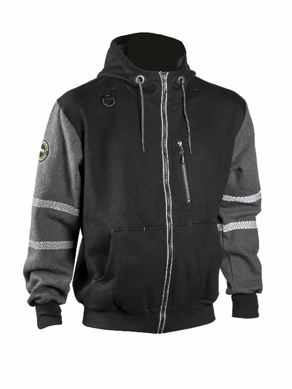 Džemperis  4331+, juoda/pilka 3XL, Dimex