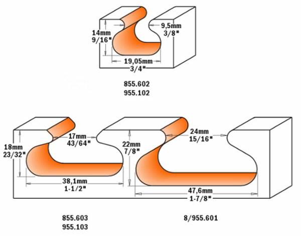 Sõrmfrees Z=2   HM S=12 D=47.6x28.5, CMT