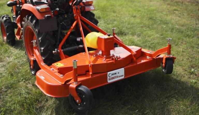 Flat deck mower rear TCR120, B1, BX, B2, EK1, Kubota