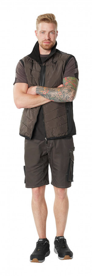 Vest Unique, tumehall/must 3XL, Mascot