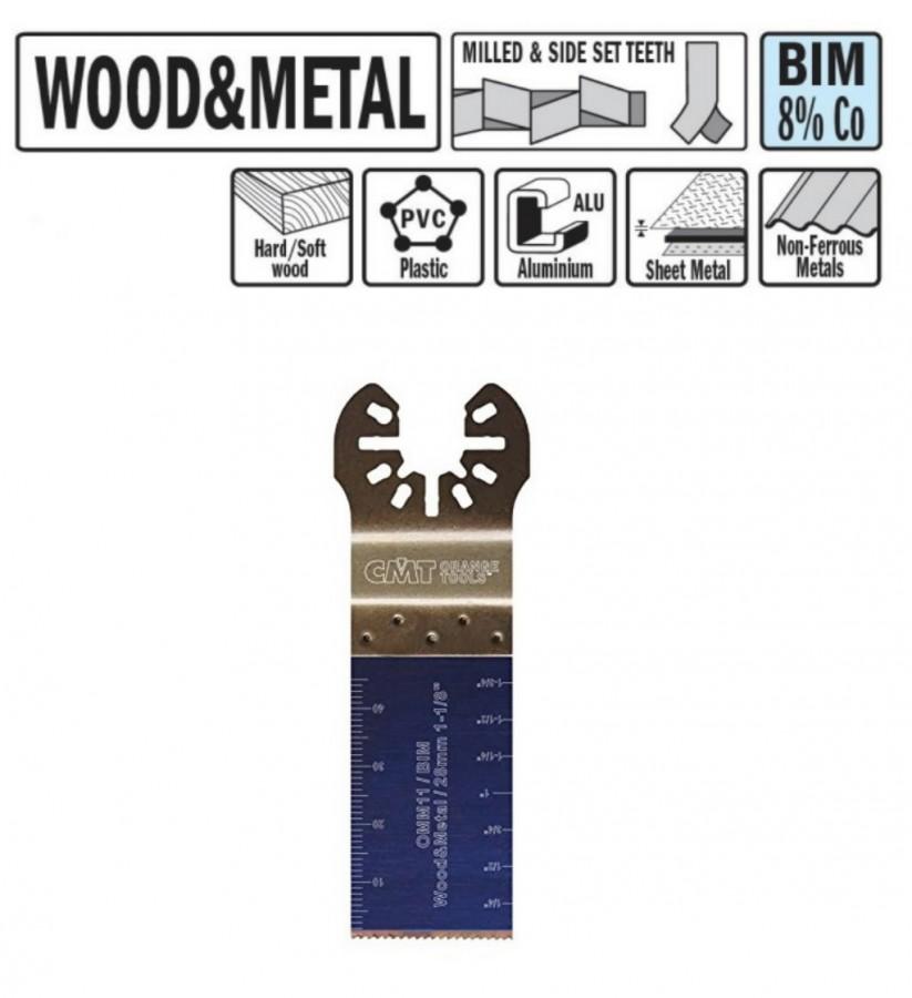 Multitööriista tera 28m BiM Co8, CMT