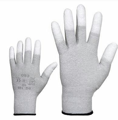 Cimdi, neilona, ESD, PU pirkstu gali. 9