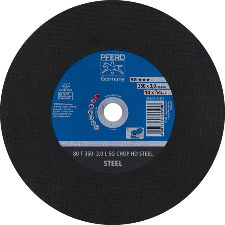 Pjovimo diskas 350x3,0x25,4mm L SG CHOP HD STEEL, Pferd