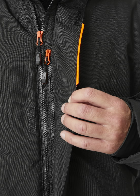 Winter jacket Kensington, hooded, black S, Helly Hansen WorkWear