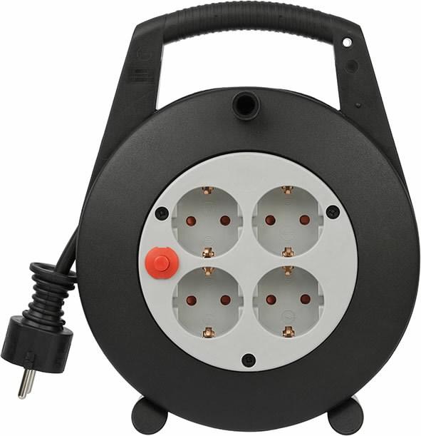 кассета с проводами 15м 4VDE VV 3x1,5 VL-XL чёрная, BRENNENS