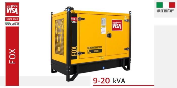 Generator 133,13 kVA P134 FOX, ATS, canopy, Visa -