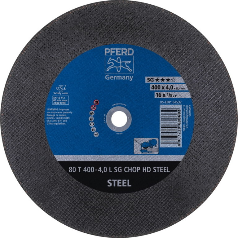 Diskas  80 T400-4,0 A30L SG-TABLE 25,4, Pferd