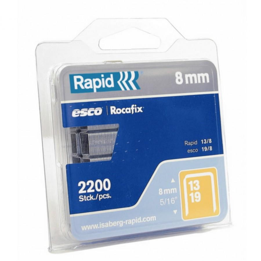 klambrid 13/10 1100tk, 10,6x0,7mm, kollane, blisterpakend, Rapid