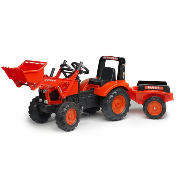Metal Pedal Tractor Loader : Pedal tractor with loader trailer am kubota