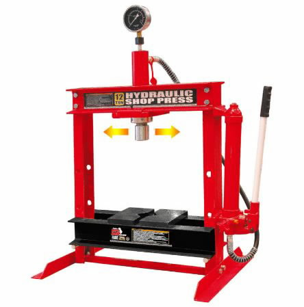 hydraulic press 12t hand pump compact tbr presses. Black Bedroom Furniture Sets. Home Design Ideas