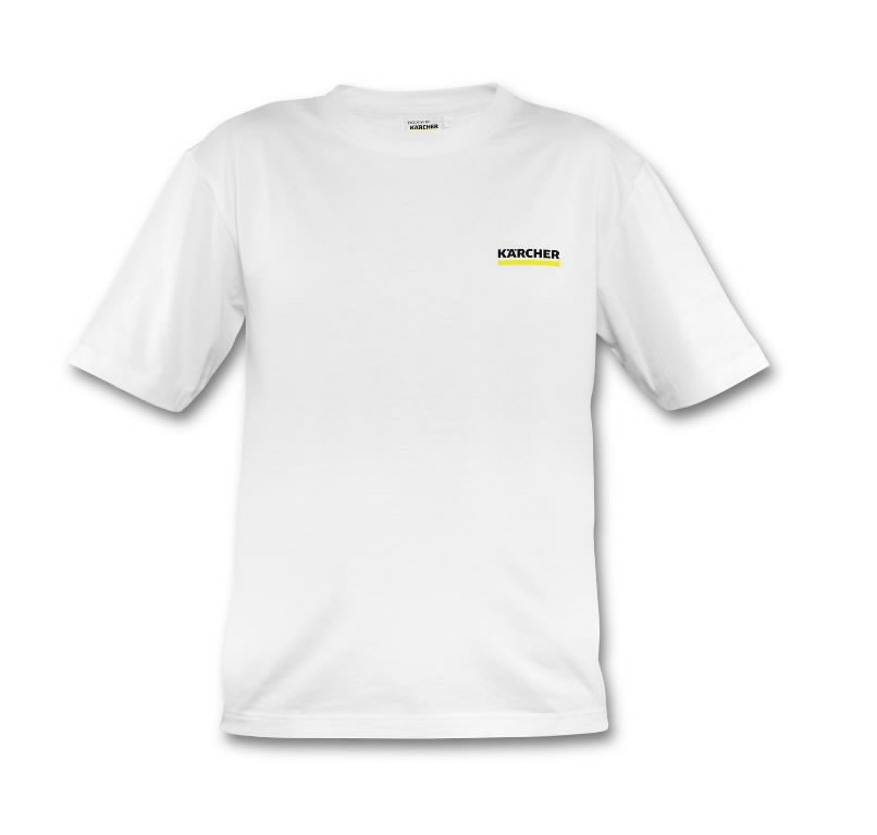 T-Shirt white,  makes a difference logo, Kärcher