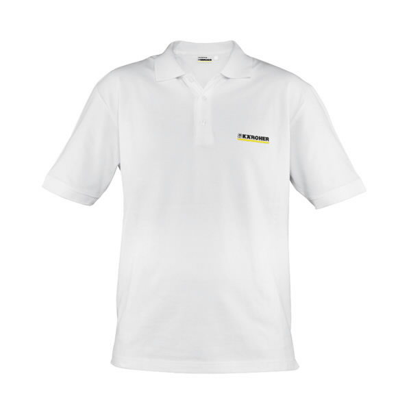 Polo marškinėliai, vyr., balti, M, Kärcher