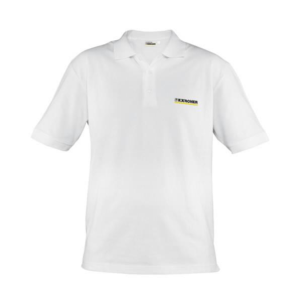 Polo marškinėliai, vyr., balti, L dydis., Kärcher