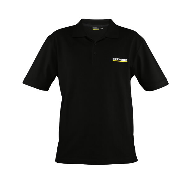 Men's polo shirt size S black, Kärcher