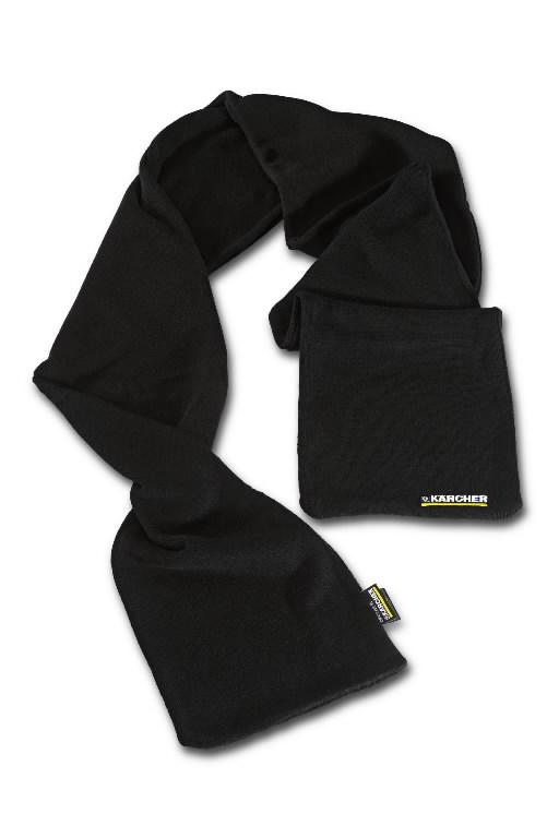 Knitted scarf black, Kärcher