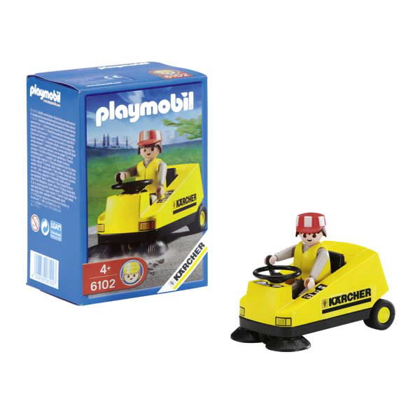 PLAYMOBIL sweeper with label K rcher, Kärcher