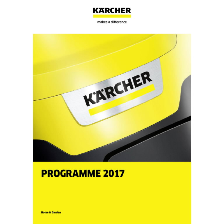 H&G kataloog 2017 (ENG), Kärcher