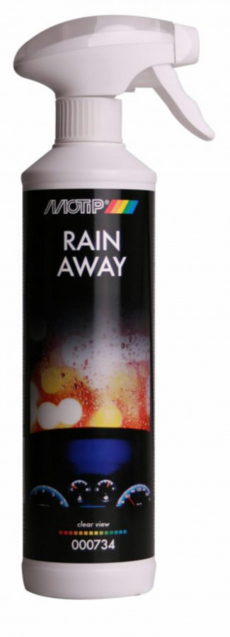 Vetthülgav kaitsevahend klaasile RAIN AWAY 500ml BL, MoTip
