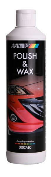 Poliruoklis Polish & Wax 500ml, BL, Motip