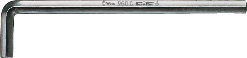 Raktas HEX6 950L, L-forma, ilgas, Wera