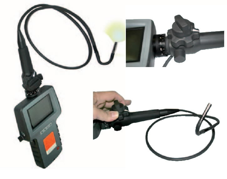 3.5´´ colour TFT screen videscope, Spin