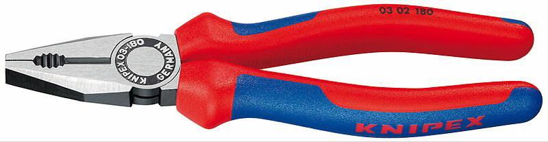 Replės kombinuotos, dvispalvės, 180 mm, Knipex