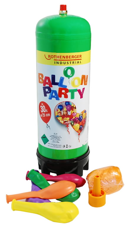 Balloon Party kmpl - Heelium Gaas 930ml 110bar+ventiil+õhup, Rothenberger