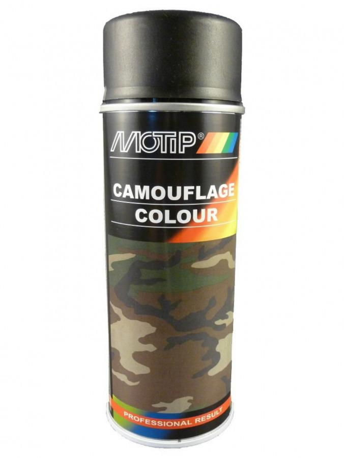 Maskeerimisvärv CAMOUFLAGE RAL 9021 400ml aerosool, MOTIP
