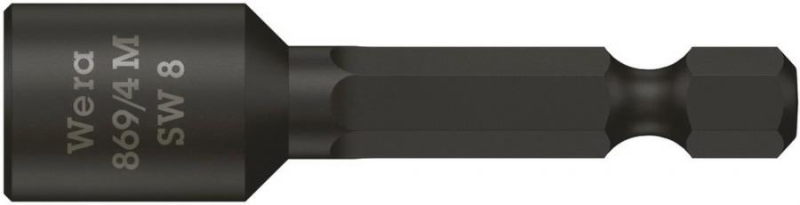 padrunotsak katusele 8mm 869/4M 50mm, magnetiga, Wera